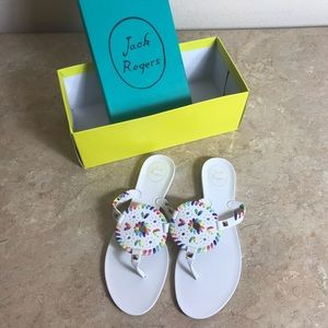 Jack Rogers white jelly sandals size 9M